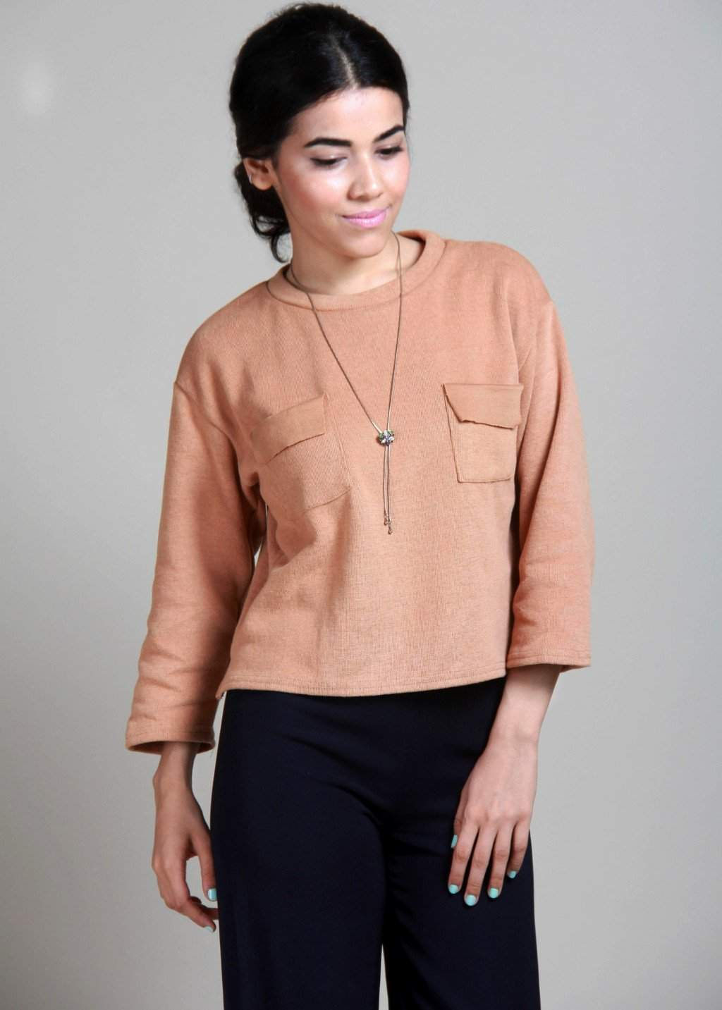 Liso Get Cozy With This Knit Top