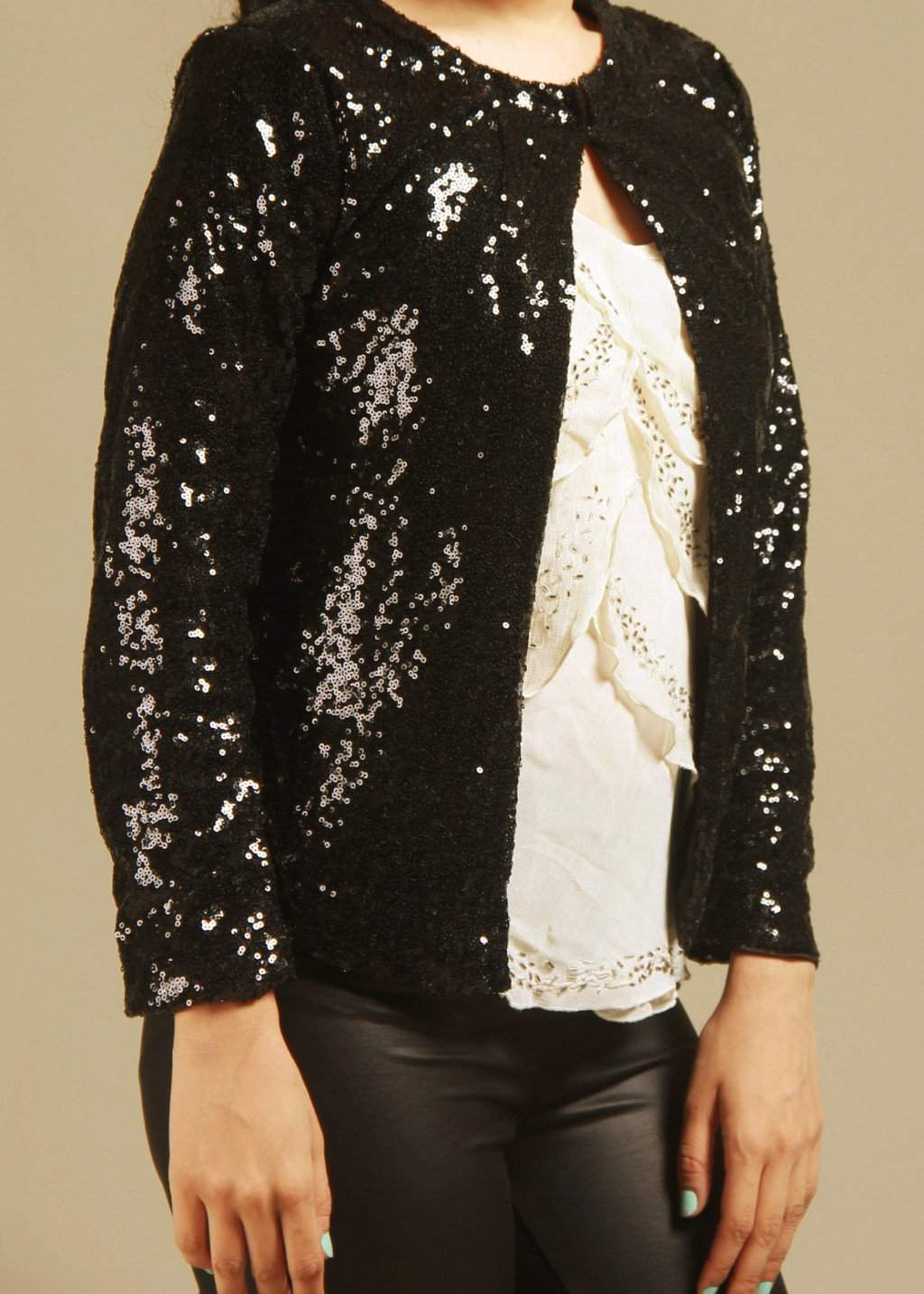 CLASSIC THREAD Get Into The Groove Black Sequins Jacket