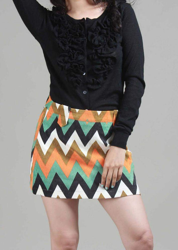 Liso Take It Or Regret Over It Corduroy Mini Skirt