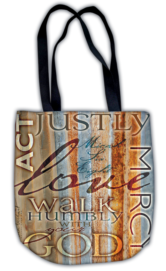 Act Justly - tote bag