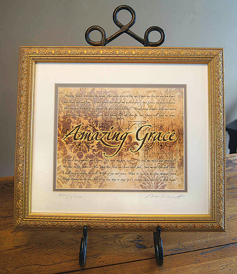 Amazing Grace - framed 8x10 w/mat