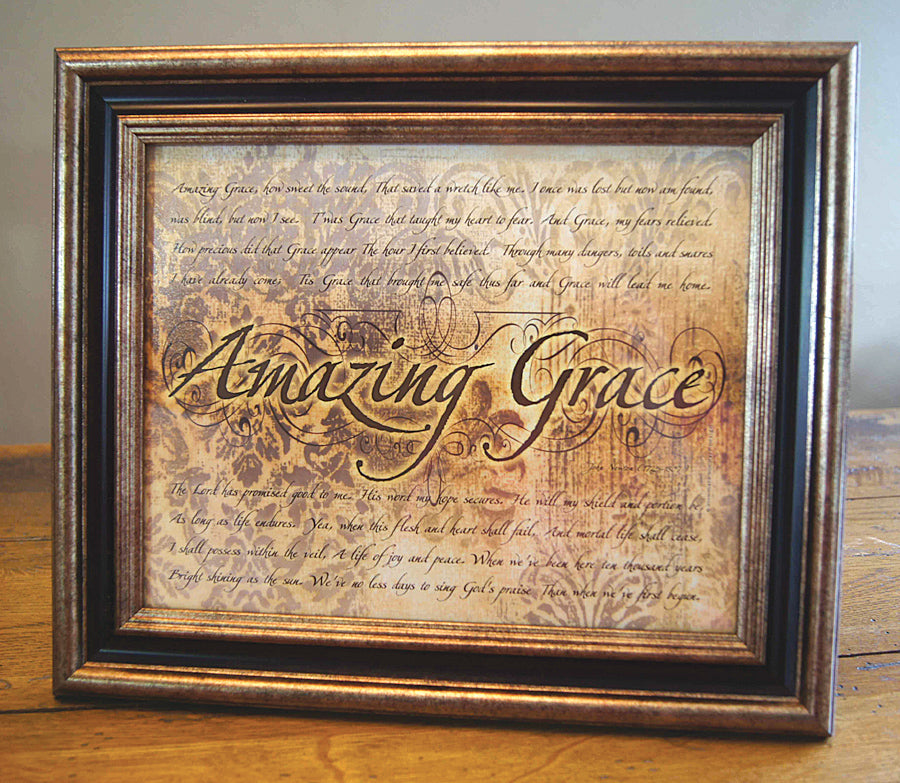 Amazing Grace - framed 8x10