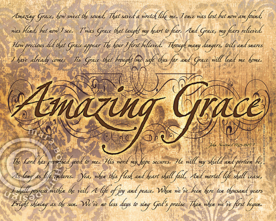 Amazing Grace - notecard