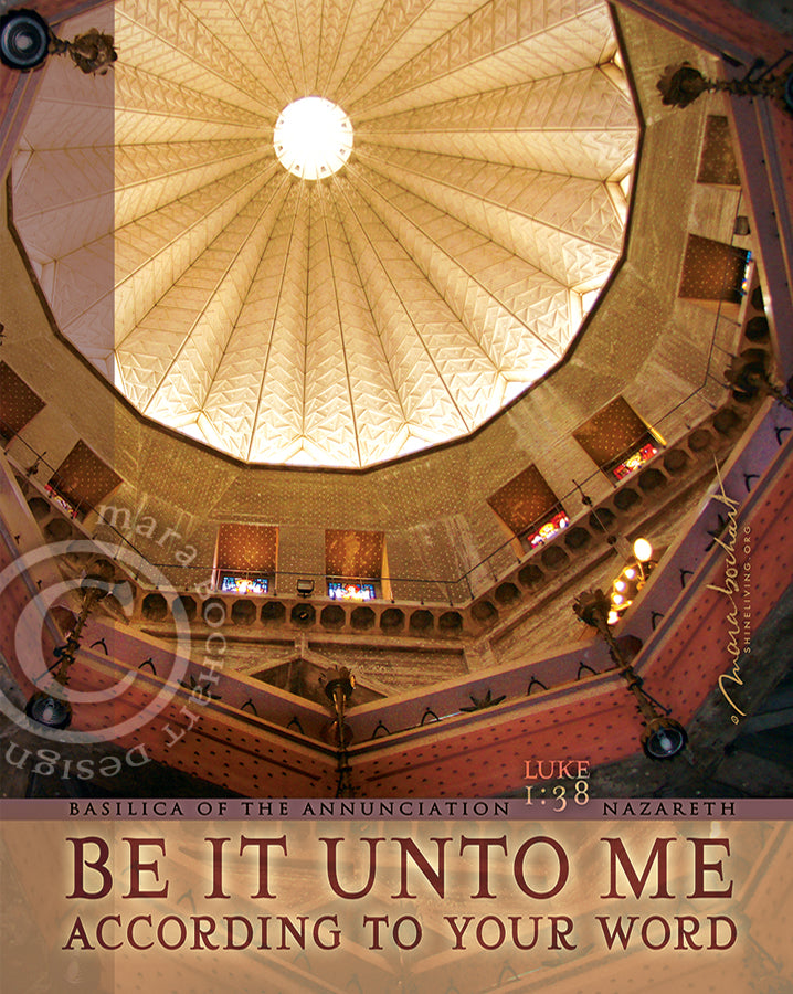 Be It Unto Me - premium canvas