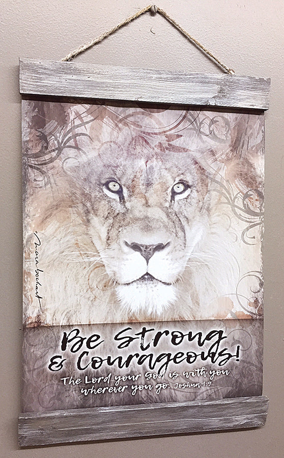 Be Strong - white - 11x14 hanging banner