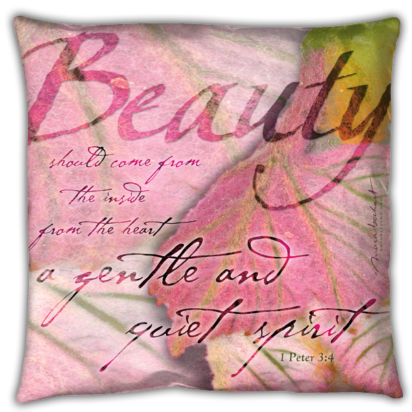 Beauty - pillow - polyester/canvas texture
