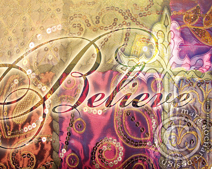 Believe with Cross - frameable print