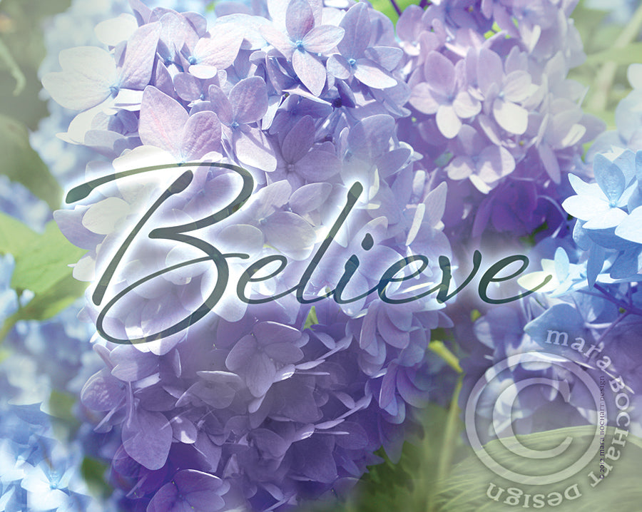 Believe - frameable print