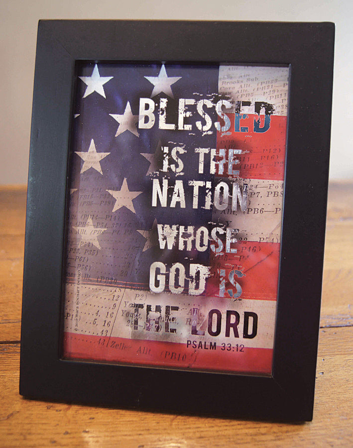 Blessed Nation - framed 5x7