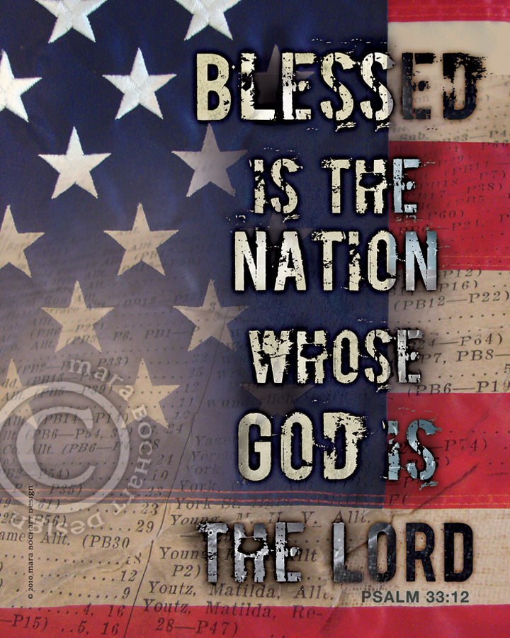 Blessed Nation - notecard