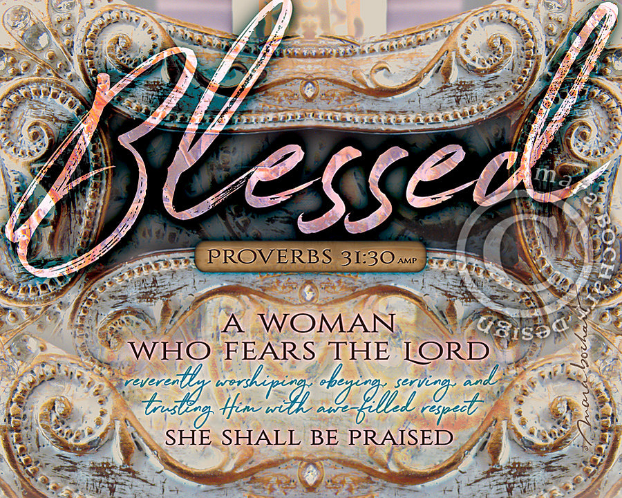 Blessed Woman - frameable print