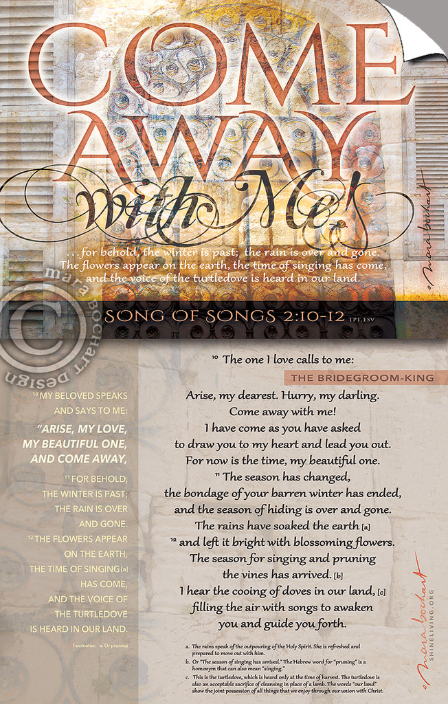 Come Away - with verses - Peel & Stick