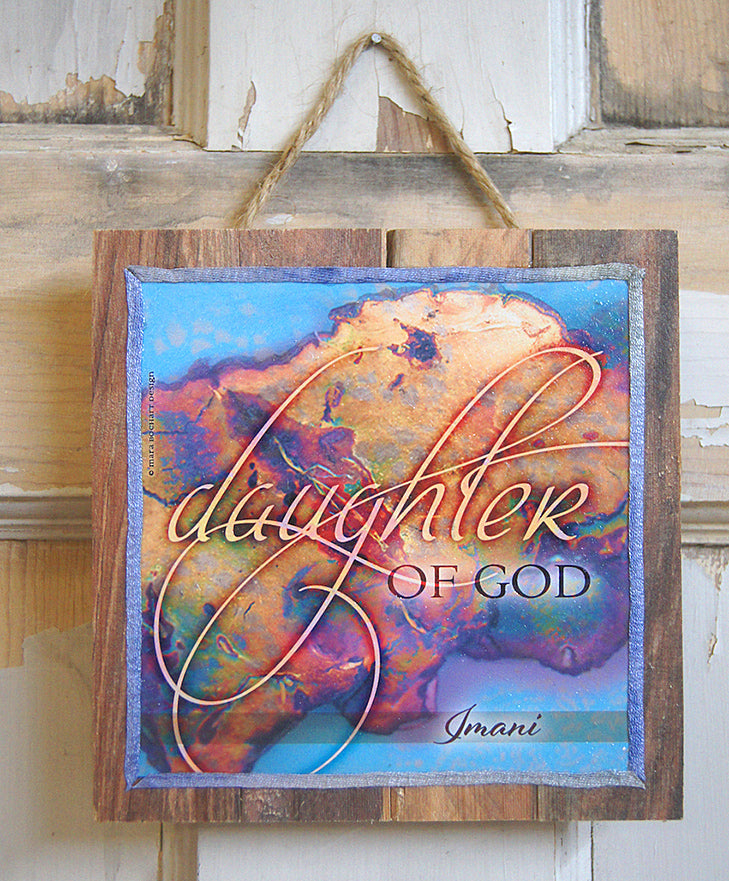 Daughter of God - personalized pallet