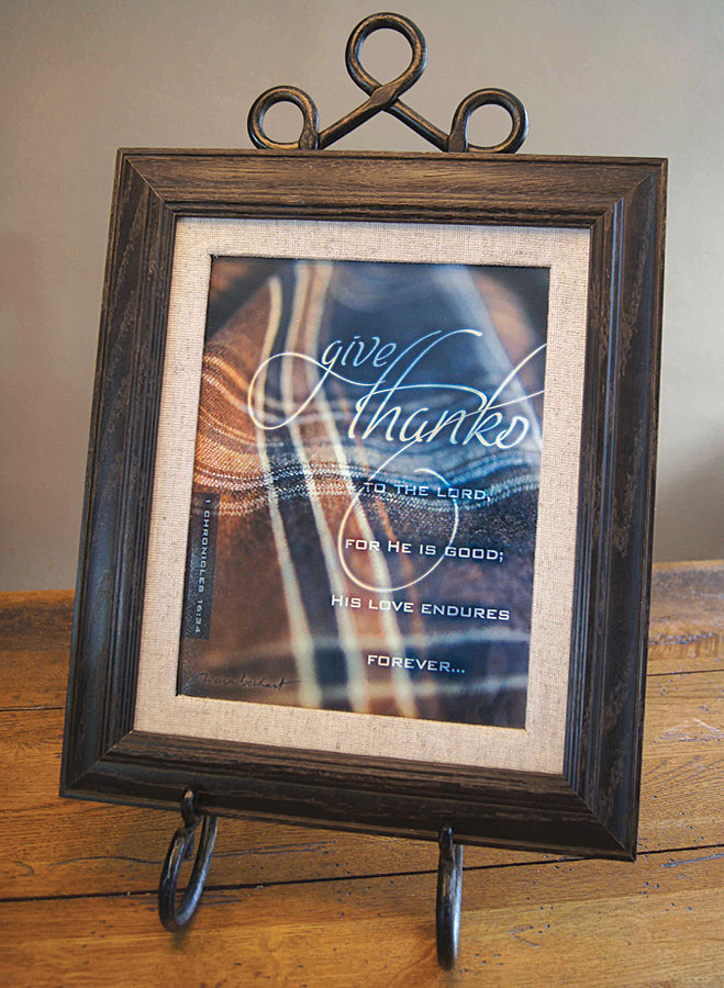 Give Thanks - framed 8x10