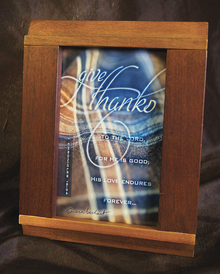 Give Thanks - framed 3.5x5.5