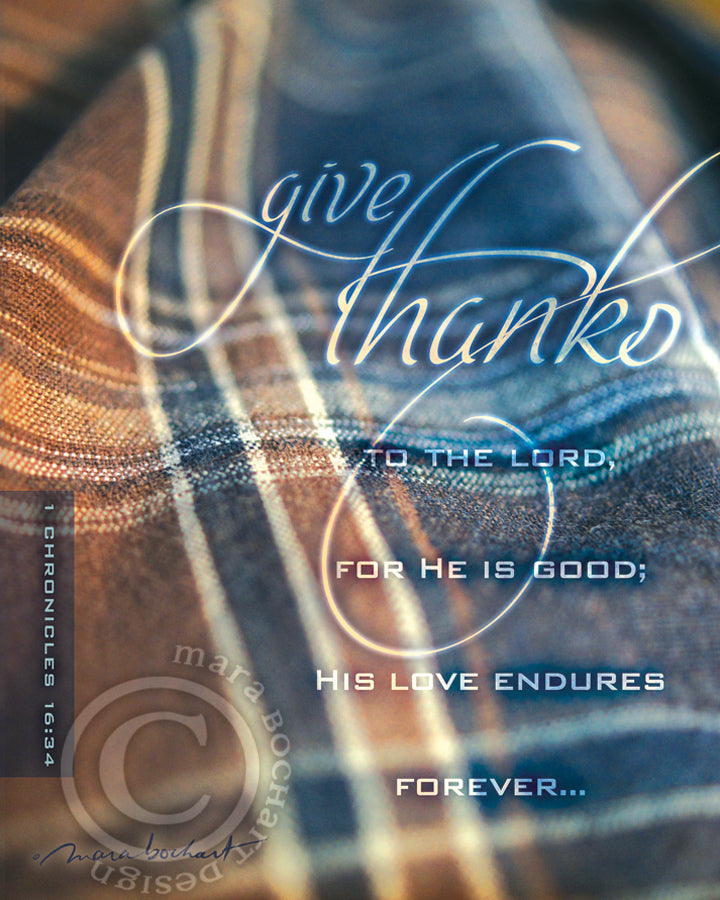 Give Thanks - frameable print