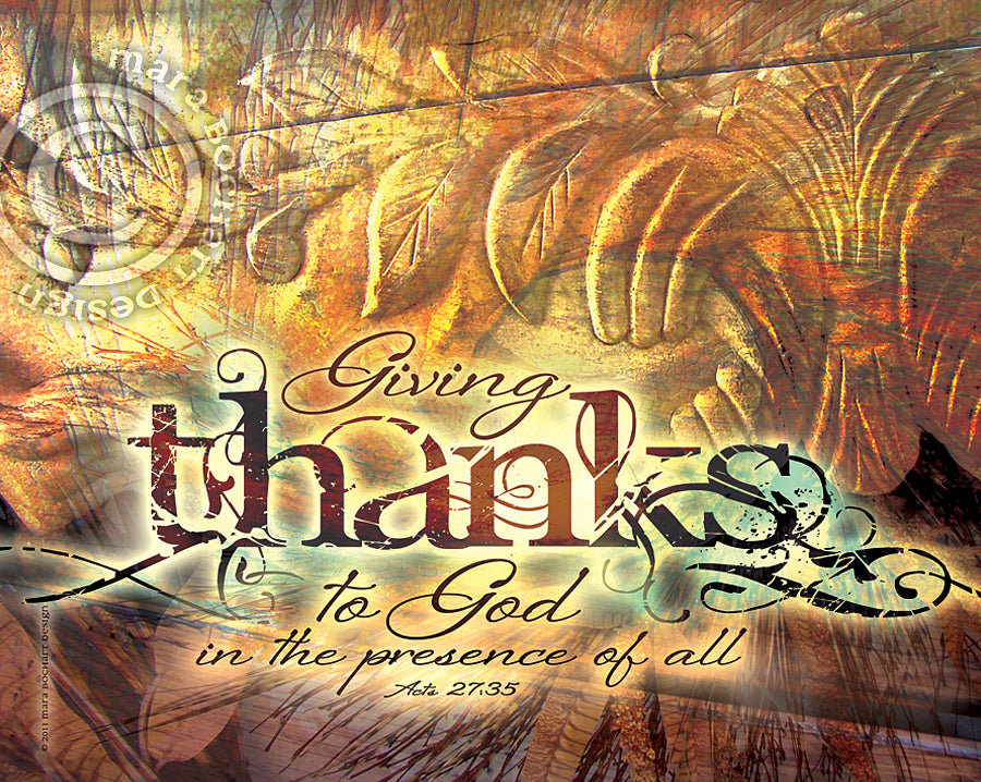 Giving Thanks - notecard