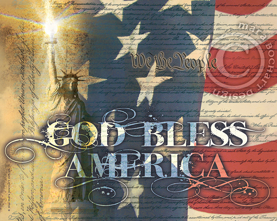 God Bless America - frameable print