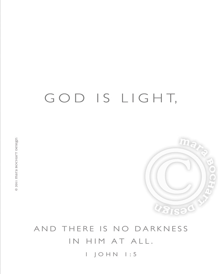 God Is Light - premium canvas