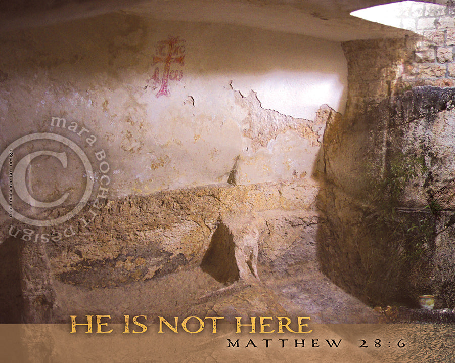 He Is Not Here - premium canvas