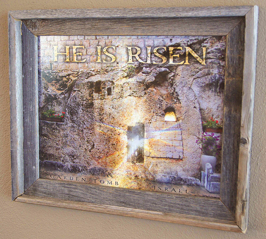 He Is Risen - framed 11x14