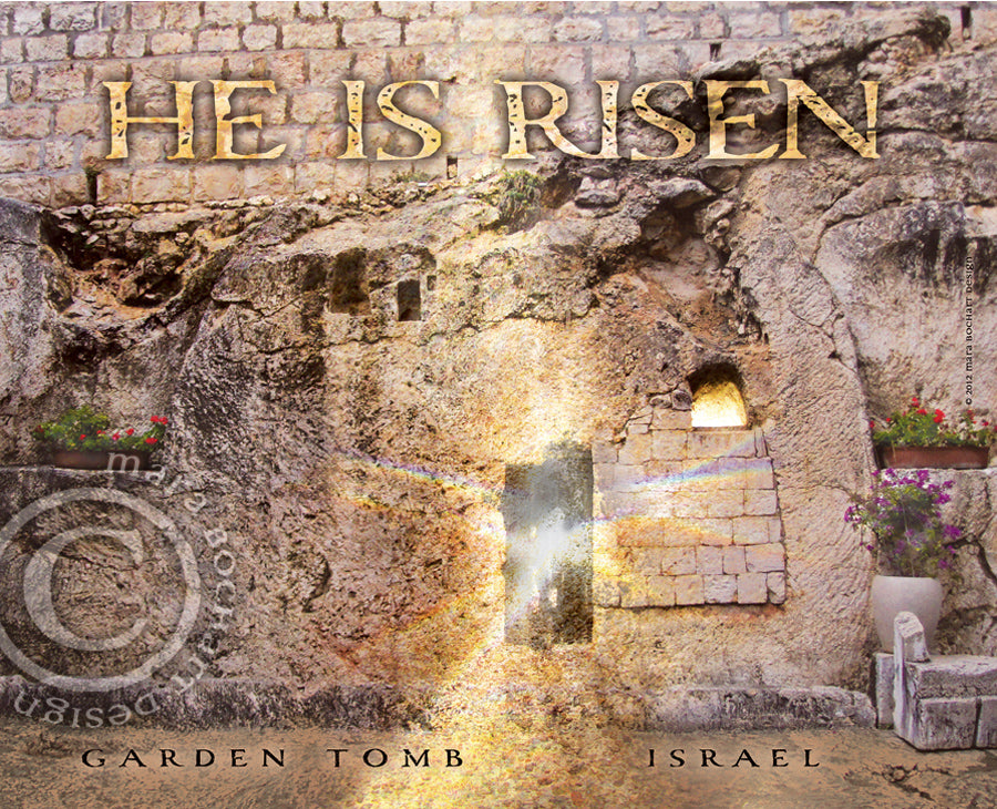 He Is Risen - frameable print