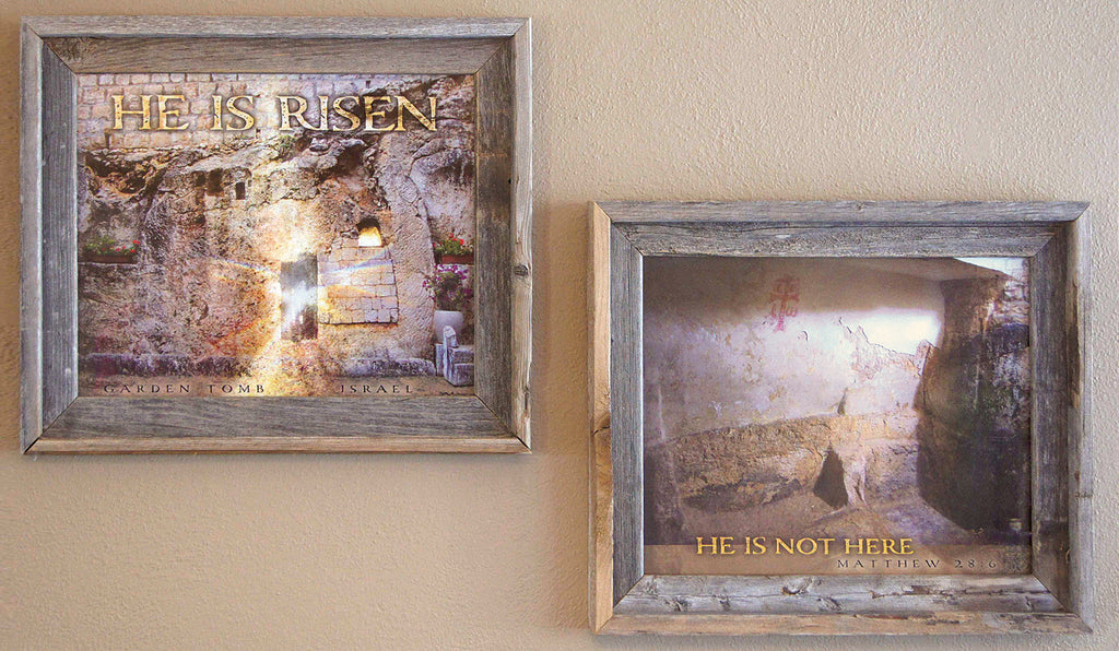 "Set of 2, ""He Is Risen"" and ""He Is Not Here"""
