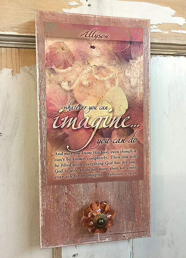 Imagine - pallet artwork - personalized