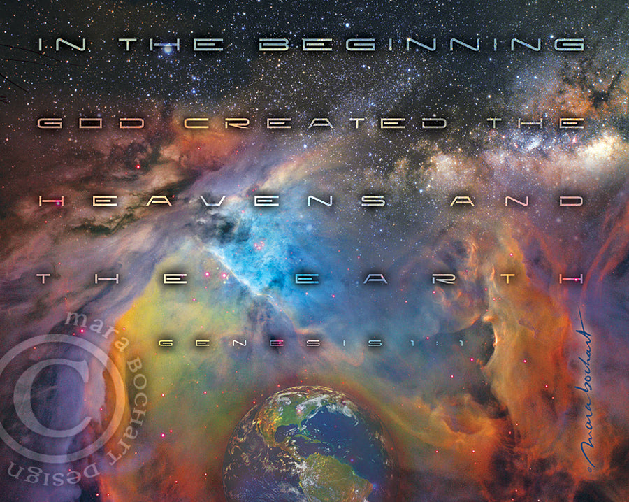 In The Beginning - canvas