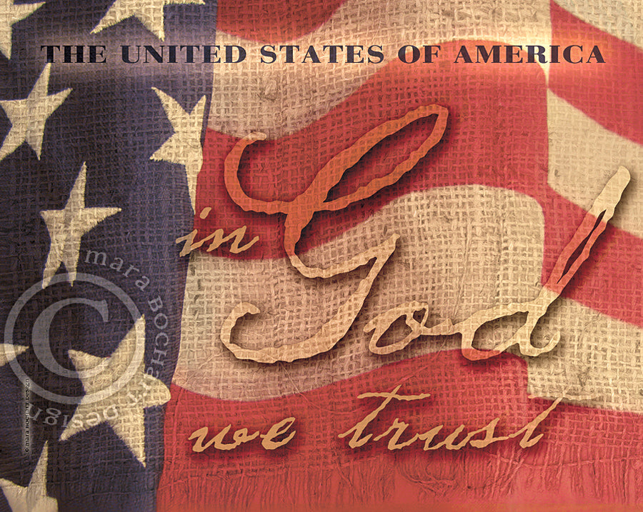 In God We Trust - frameable print