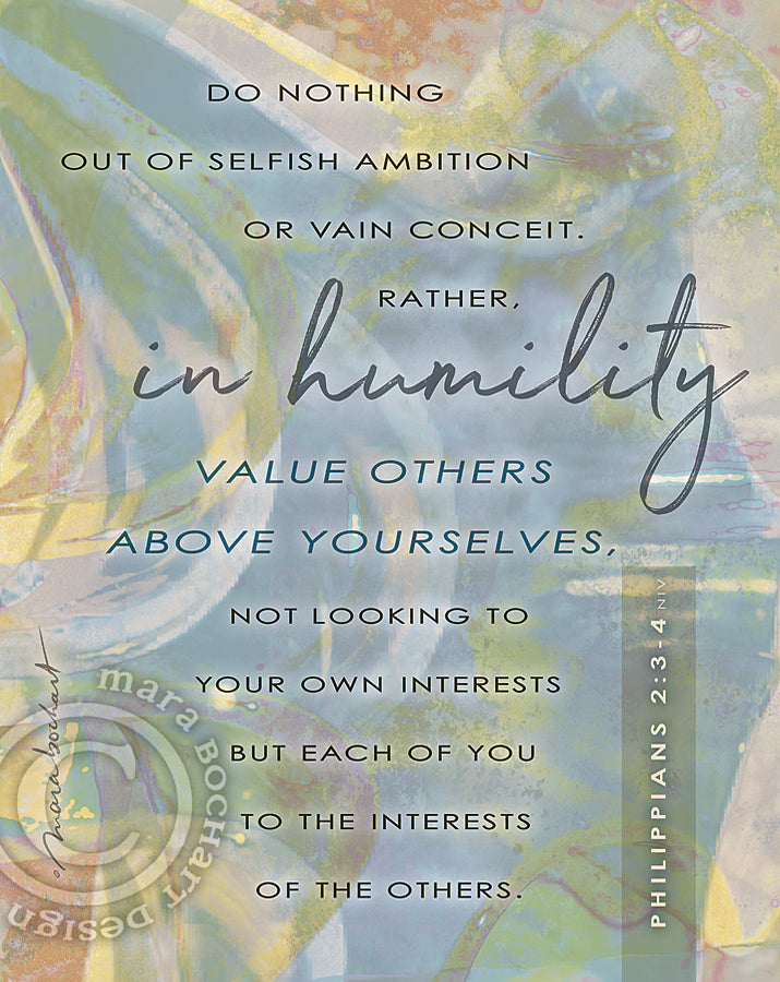 In Humility - frameable print