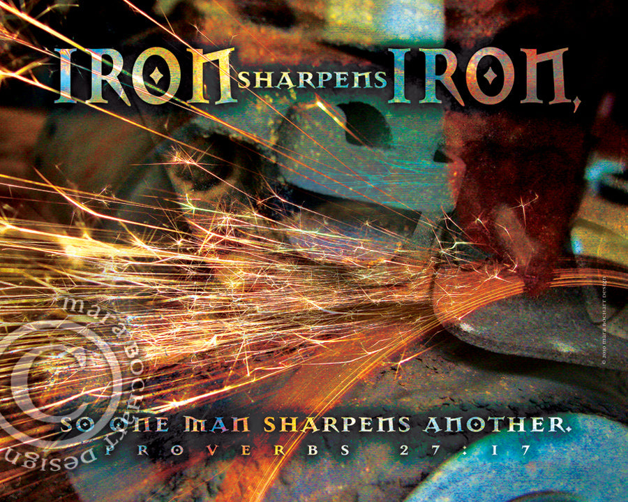 Iron Sharpens Iron - canvas