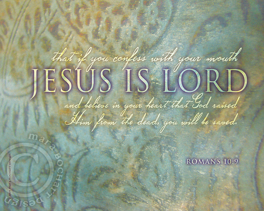 Jesus Is Lord - premium canvas
