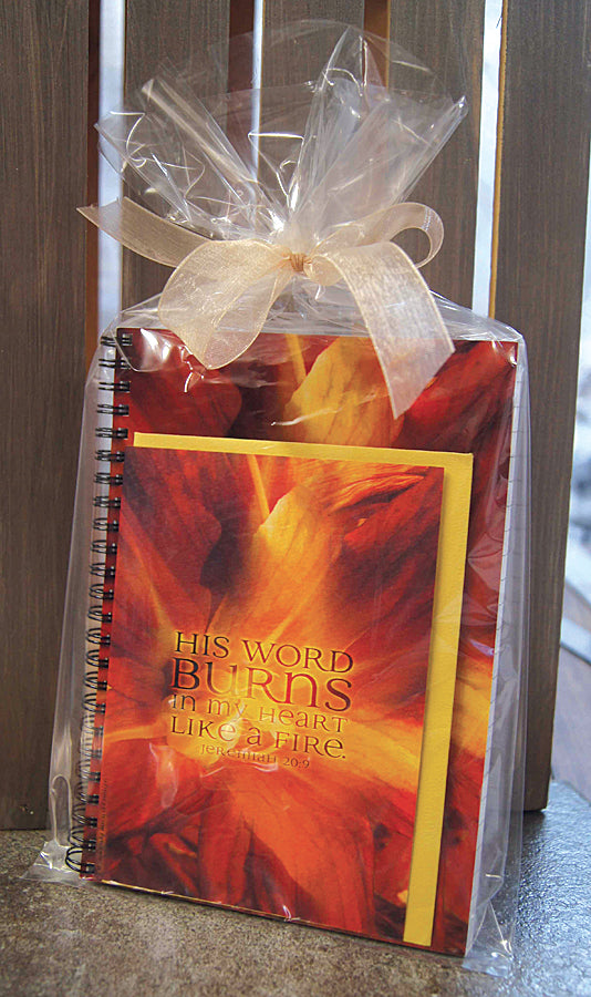 Burning Heart - journal & notecard gift set