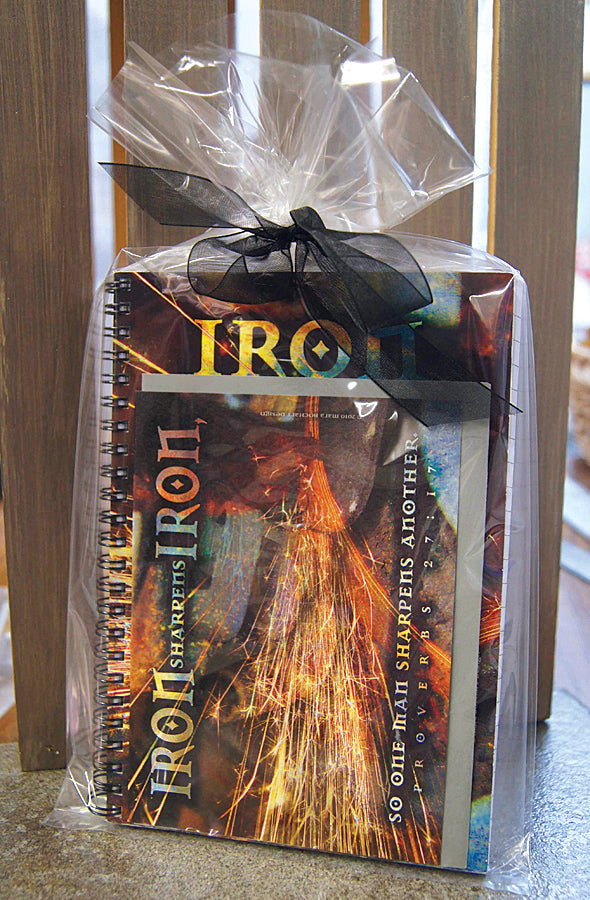 Iron Sharpens Iron - journal & notecard gift set