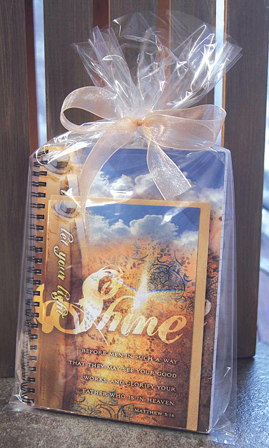 Shine - journal & notecard gift set