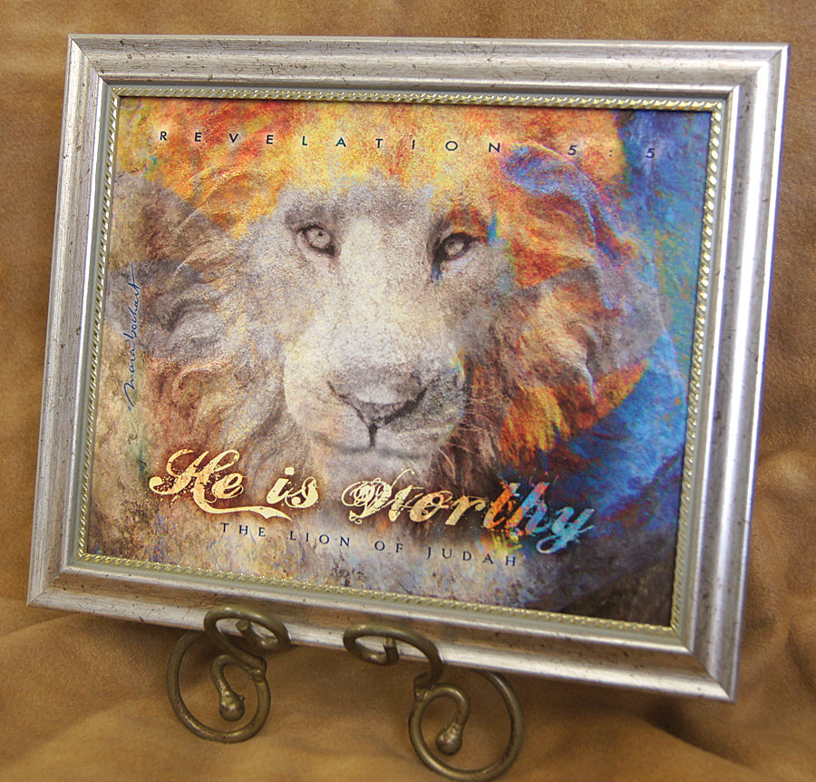 Lion of Judah - framed 8x10