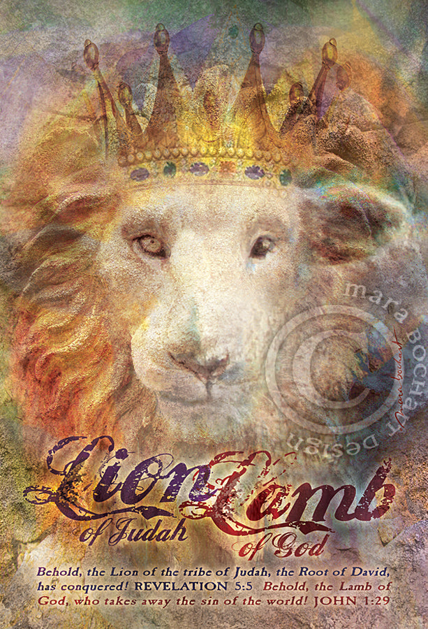 Lion Lamb - frameable print