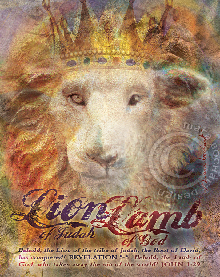 Lion Lamb - premium canvas