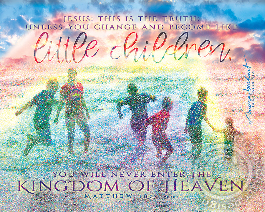 Little Children - premium canvas