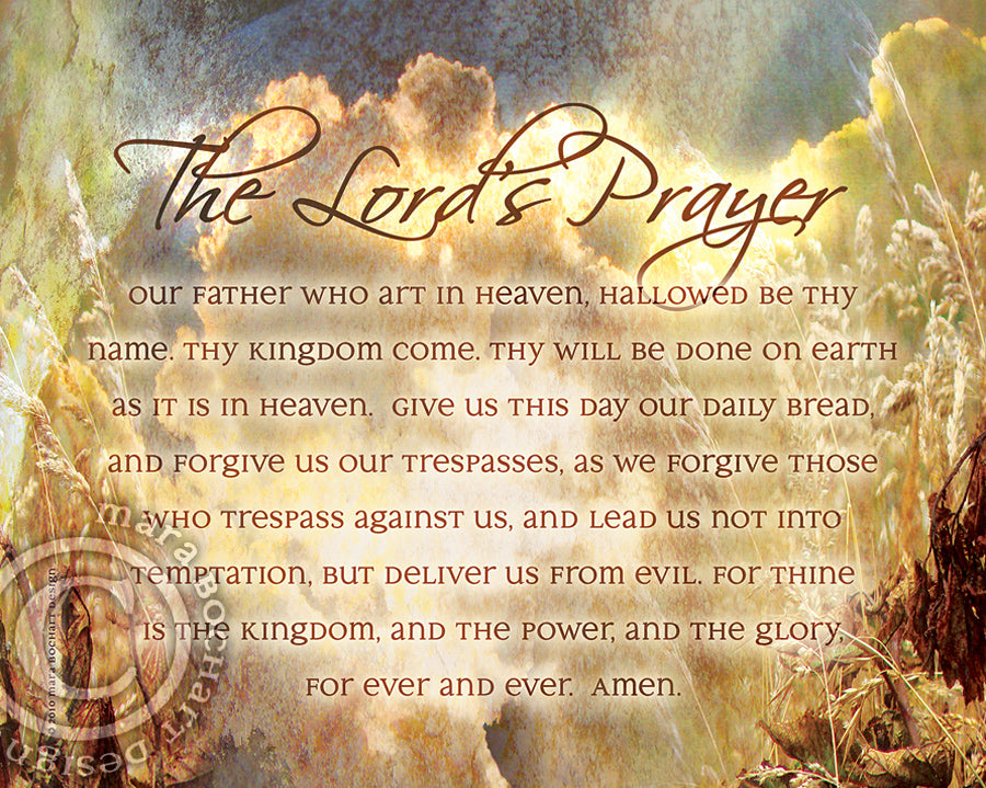 picture about The Lord's Prayer Printable known as Lords Prayer - top quality canvas