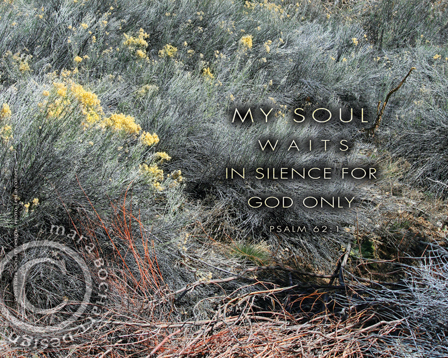 My Soul Waits - premium canvas