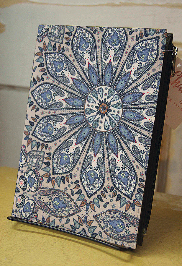 Journal with zippered pouch