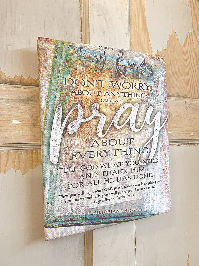Pray - premium canvas