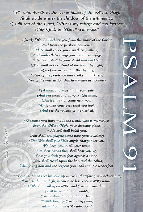 Psalm 91 - frameable print