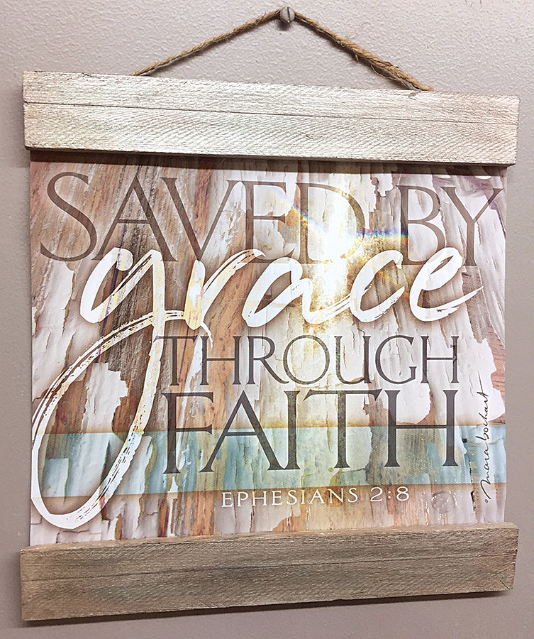 Saved By Grace - 10x8 hanging banner