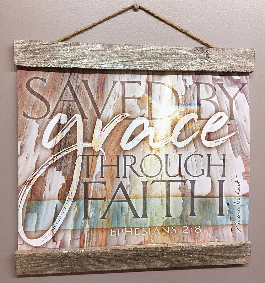 Saved By Grace - 14x11 hanging banner