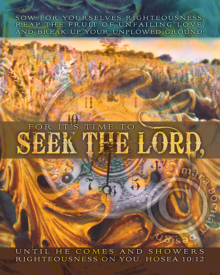 Seek The Lord - frameable print
