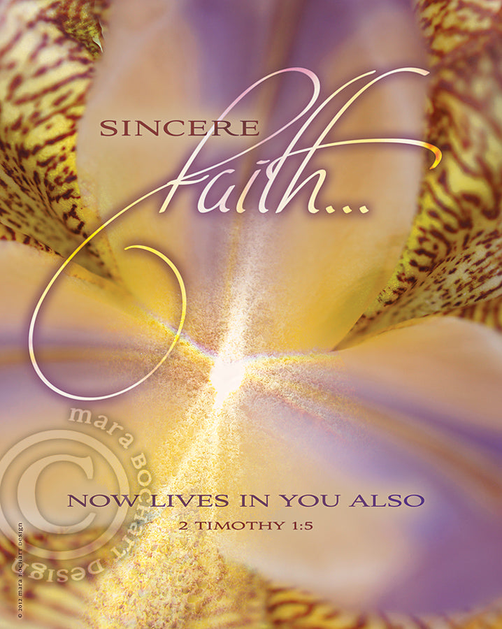 Sincere Faith - frameable print
