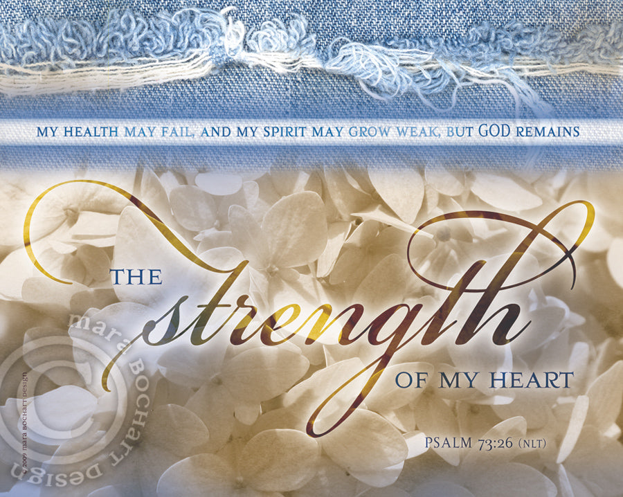 Strength of my Heart - notecard